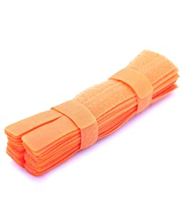 Pasow 50pcs Colourful Cable Ties Reusable Fastening Wire Organizer Cord Cable Management 7 Inch - Orange