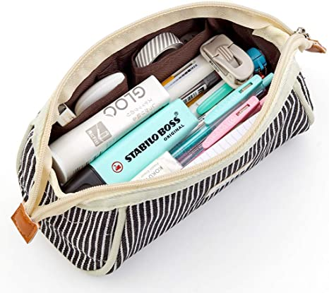 Canvas Pencil Bag Pencil Case Drawing Coloring Pencils Organizer For Artist Students by TheBigThumb