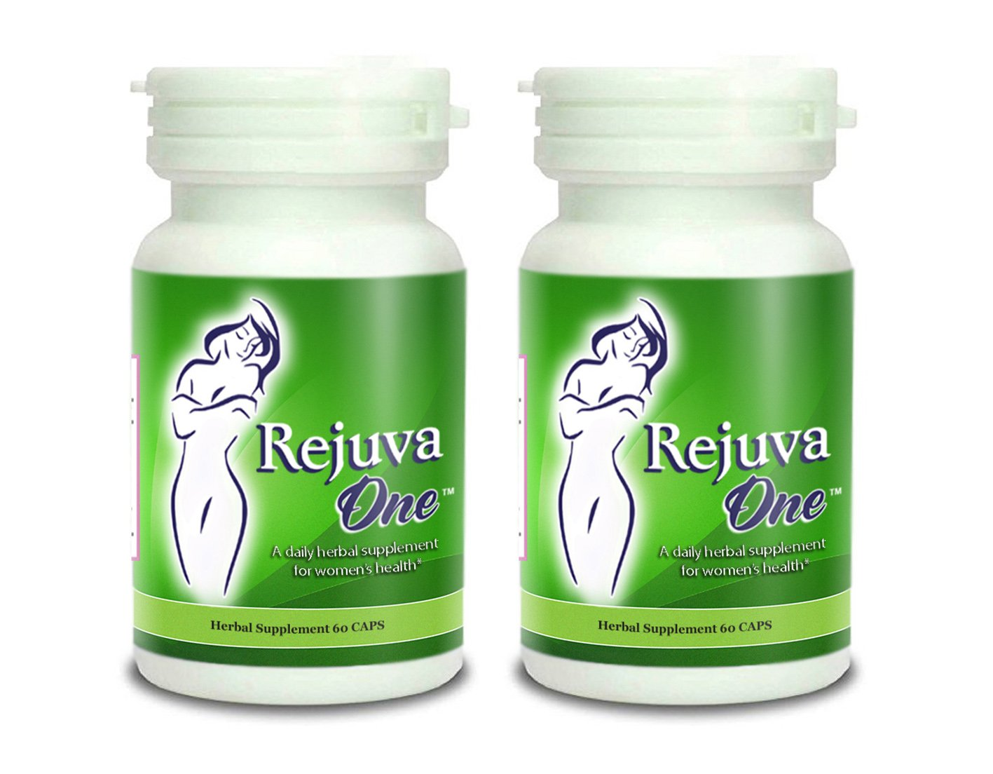RejuvaOne Vaginal Tightening Pills (60-Capsules) Women's Herbal Supplement | Pelvic Floor, Postpartum Support | Balance Hormones (2 Bottles)