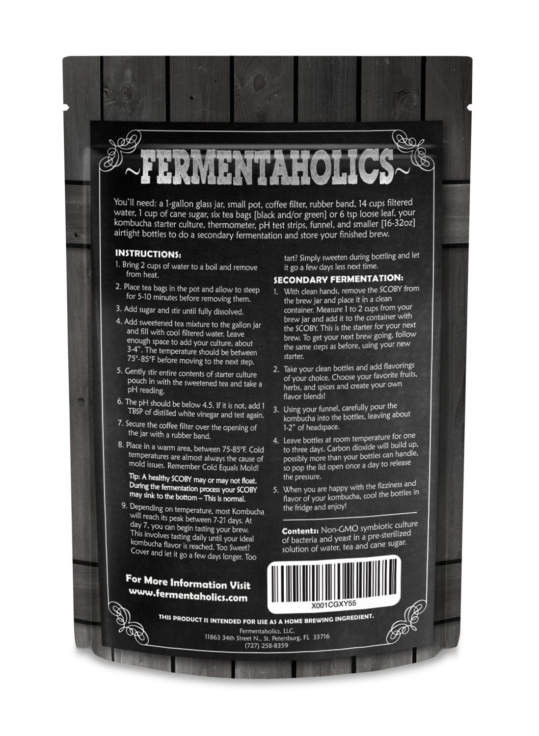 Fermentaholics Kombucha SCOBY (starter culture) + 1-Gallon Glass Fermenting Jar with Breathable Cover + Rubber Band + Adhesive Thermometer - Brew kombucha at Home - Detailed Instructions Included by Fermentaholics (Image #3)