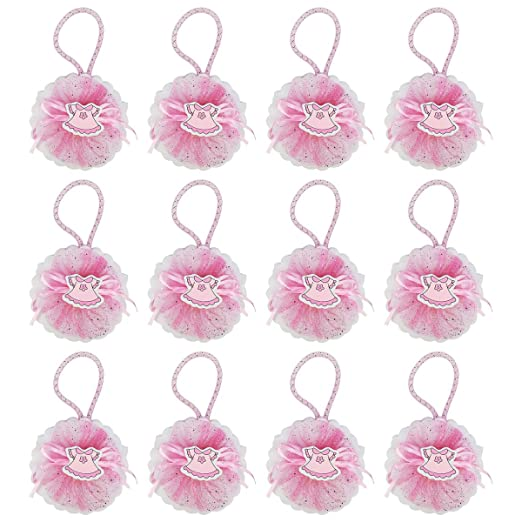 12 Bolsa Regalo Bautizo niña,Color Rosa,Organza-Vestido ...