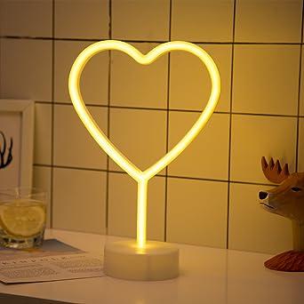 Led Heart Neon Light Signs Xiyunte Room Decor Warm White Neon