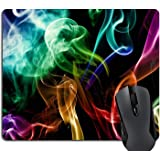 Smoke Rainbow Color Abstraction Creative Mouse Pads Customized Made to Order Support Ready 9 7/8 Inch (250mm) X 7 7/8 Inch (2