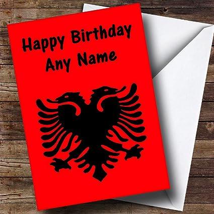 Auguri Di Natale In Albanese.Albanese Bandiera Albania Personalizzato Biglietto Di Compleanno