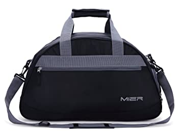 5f85edeb2e MIER Gym Bag Sports Holdall Weekend Travel Duffel Bag with Shoes Compartment  for Women and Men