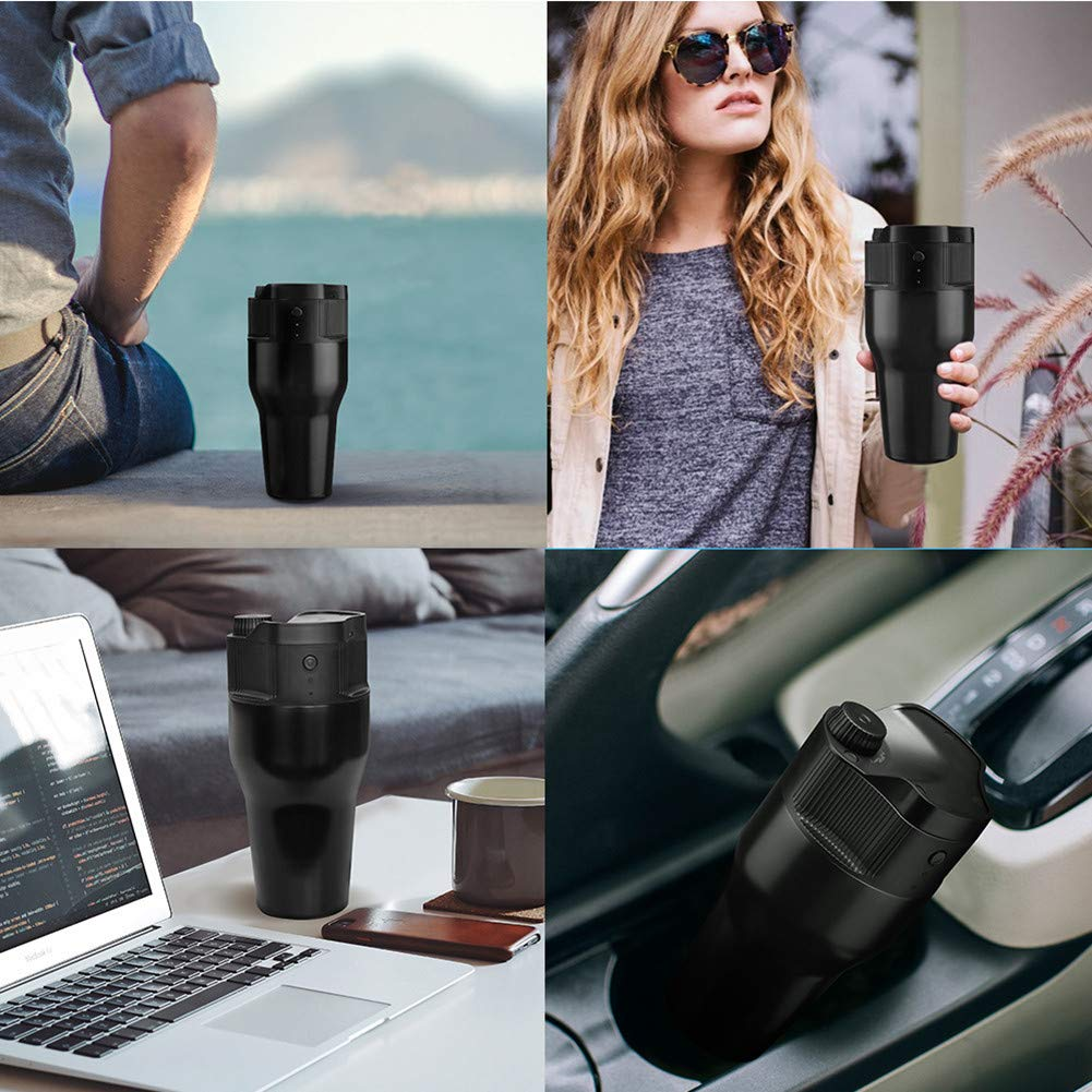 Automatic Portable Expresso Machine,HomeYoo Electric Coffee Machine, One-Button Operation Coffee Maker for Travel and Outdoor-USB charge,500ML, Best Gift for Family and Friends (Black) by HomeYoo (Image #9)