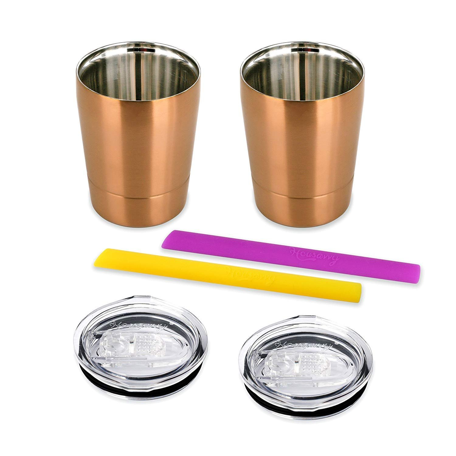 Housavvy Snack Cups For Toddlers With Lids And Straws Double Walled Boon Sippy Cup Tall 10oz Green Stainless Steel Set Of 2 Golden Baby