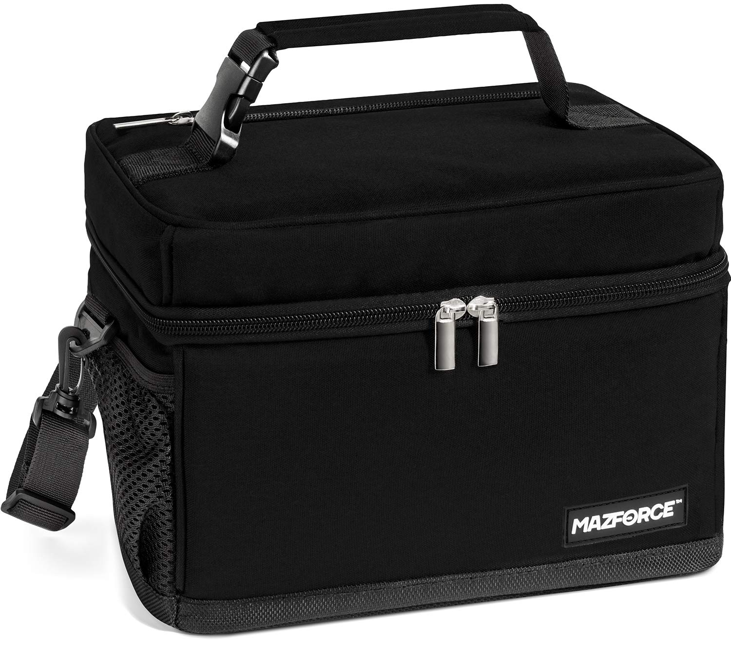 MAZFORCE LongHaul Lunch Box Insulated Lunch Bag - Spacious Pro Performance Adult Lunchbox Built to Withstand your Daily Grind (Lunch Bags Designed in California for Men, Adults, Women - Ultra Black) by MAZFORCE