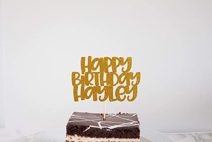Image Unavailable Not Available For Color Happy Birthday Glitter Cake Topper