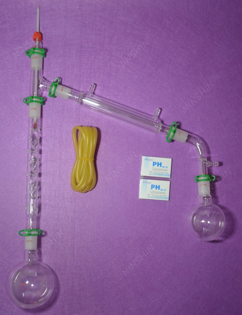 NANSHIN Glassware,1000ml,24/40,Distillation Apparatus,Lab Glassware kit,W/200...