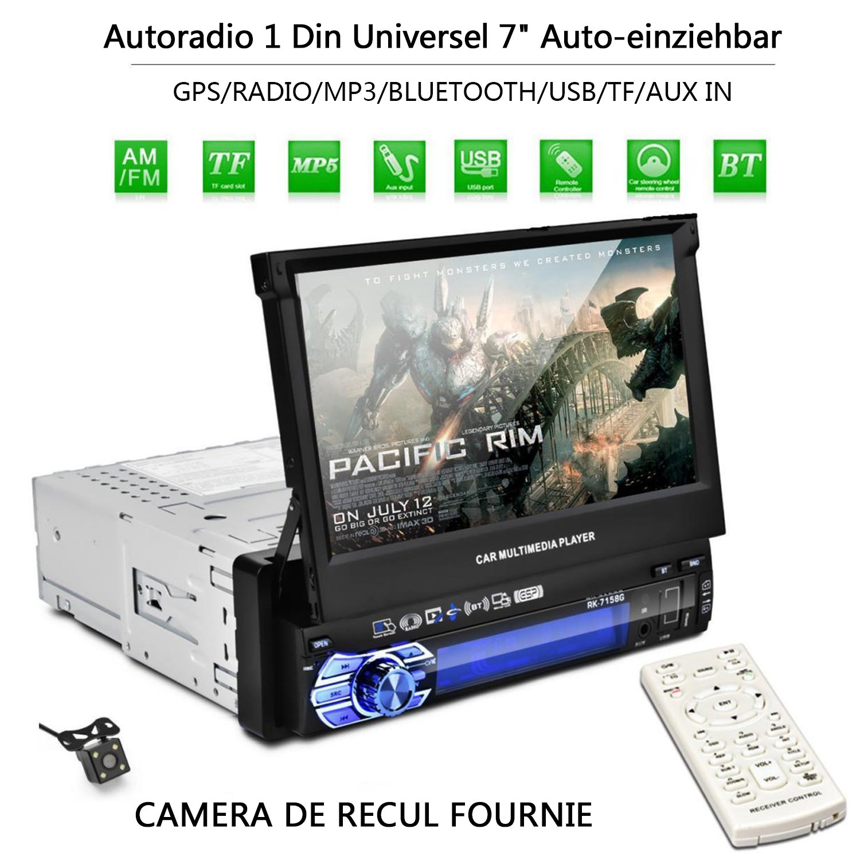 Autoradio CATUO + Bildschirm ausfahrbar + 7\