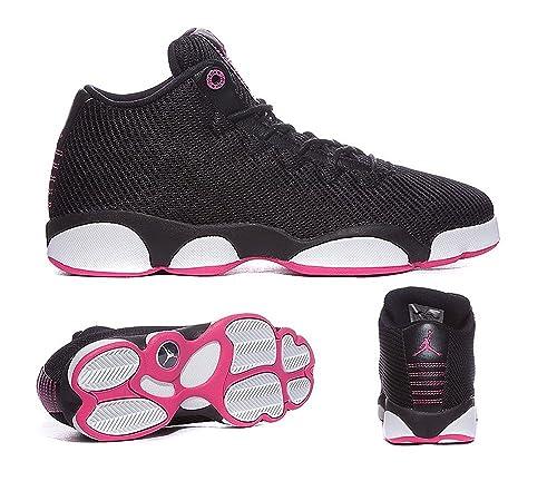 half off 02a02 da263 ... italy amazon jordans girls jordan horizon low walking shoes black vivid  pink white 8 basketball 0a2f1
