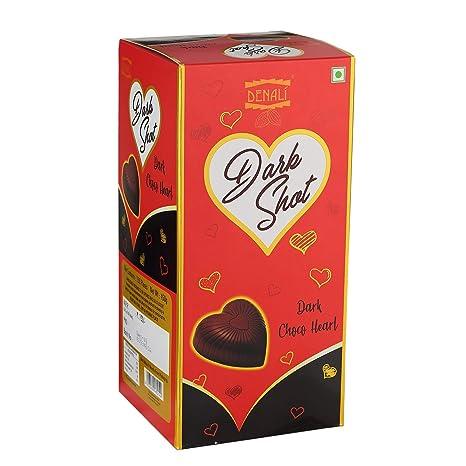 356975ca3714 Denali Dark Shot Dark Choco Hearts  Amazon.in  Grocery   Gourmet Foods