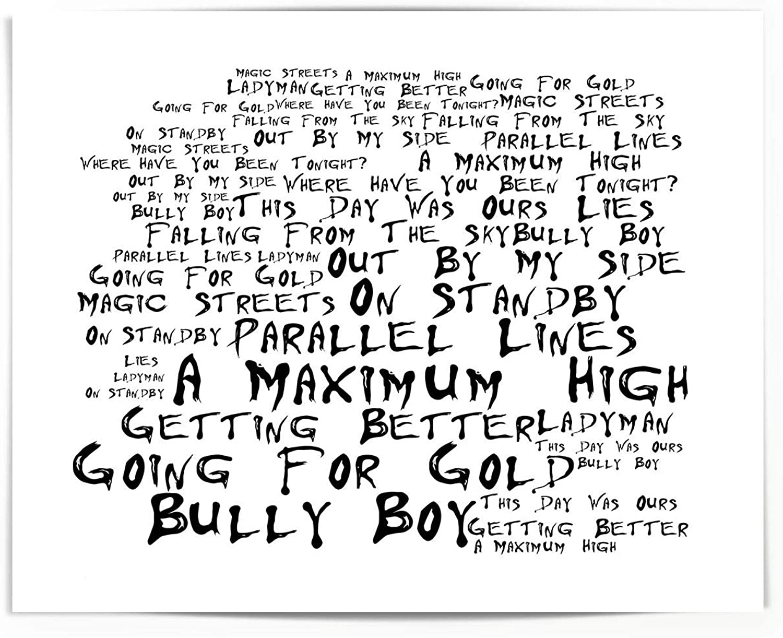 Lyrics Gift Signed Art Shed Seven Poster Print A Maximum High
