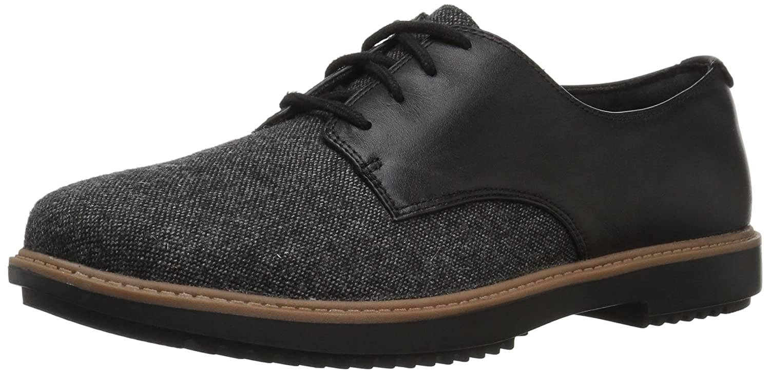 Black Tweedcombi Clarks Women's Raisie Bloom Oxfords