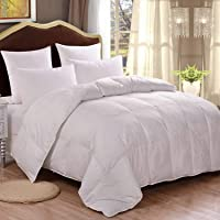 HOMFY Premium Cotton Comforter,Quilted Comforter with Corner Tabs, Hypoallergenic, Soft and Breathable