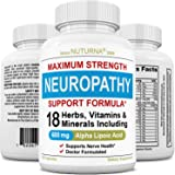 Neuropathy Support Supplement - Nerve Support with 600 mg Alpha Lipoic Acid Daily Dose - Peripheral Neuropathy - Feet Hand Le