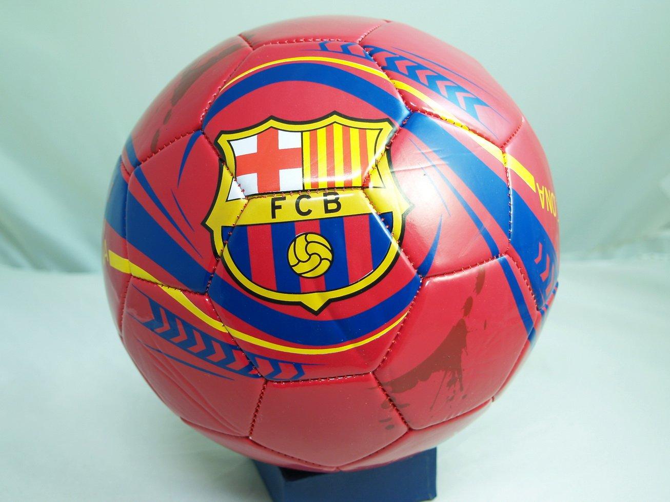 FCバルセロナサッカー公式サイズサッカーボール( SZ。5 ) – ブルー   B0056CGTLG