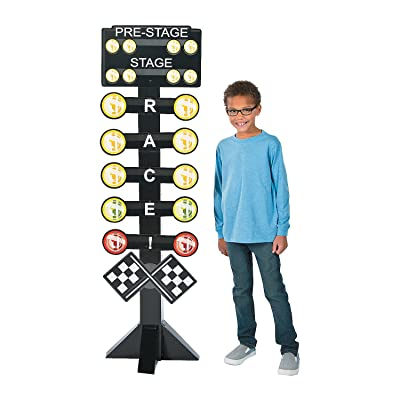 Fun Express - Birthday Race Car Directional Sign for Birthday - Party Decor - Large Decor - Floor Stand Ups - Birthday - 1 Piece: Toys & Games