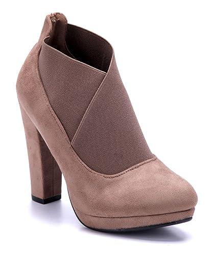 8ba9f388c0a51c Schuhtempel24 Damen Schuhe Ankle Boots Stiefel Stiefeletten Trichterabsatz  11 cm High Heels  Amazon.de  Schuhe   Handtaschen