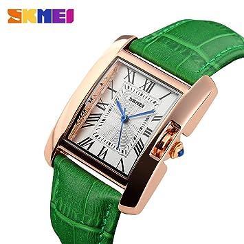 Huang Dog-shop Reloj Mujer Reloj Moda Reloj De Pulsera Elegante Y Simple Reloj De