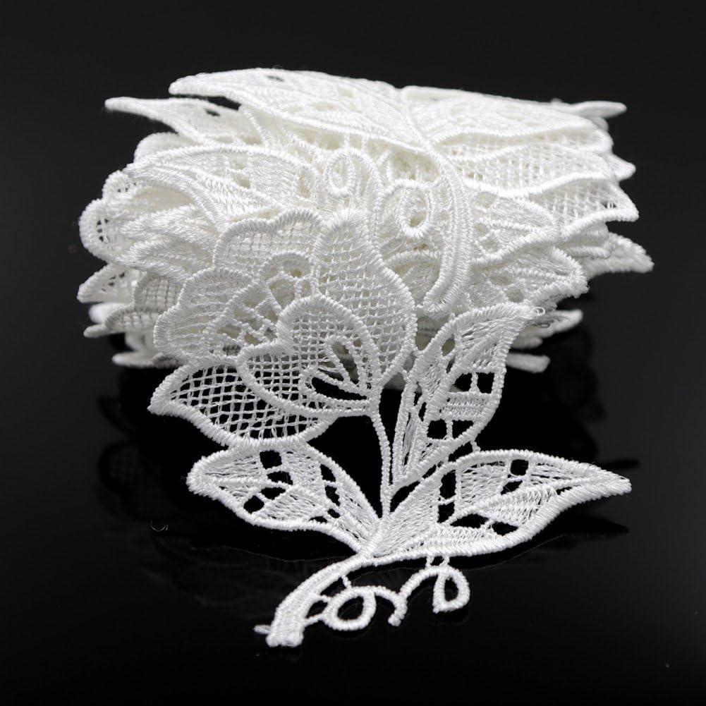 10 x Handmade Crochet Green Leaf Appliques Embellishment Motifs Sewing Decor
