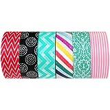 Wrapables Japanese Washi Masking Tape Collection, Premium Value Pack (Set of 6) – VPK4