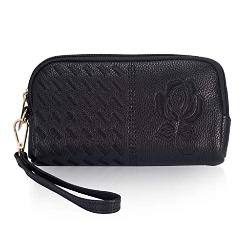official photos 9bd24 1eae6 Wristlet Wallet for Women, Leather Wristlets Phone Purse Clutch for iphone  6/7/8Plus XR