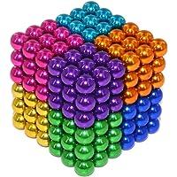 Bola de rompecabezas magnética, Puzzle 3D de Bolas Magneticas de Neodimio, magnético magnético Escultura juguetes para el desarrollo Inteligencia y Alivio del estrés Magnetico Iman 5mm 216 Piezas (Multicolor 8)