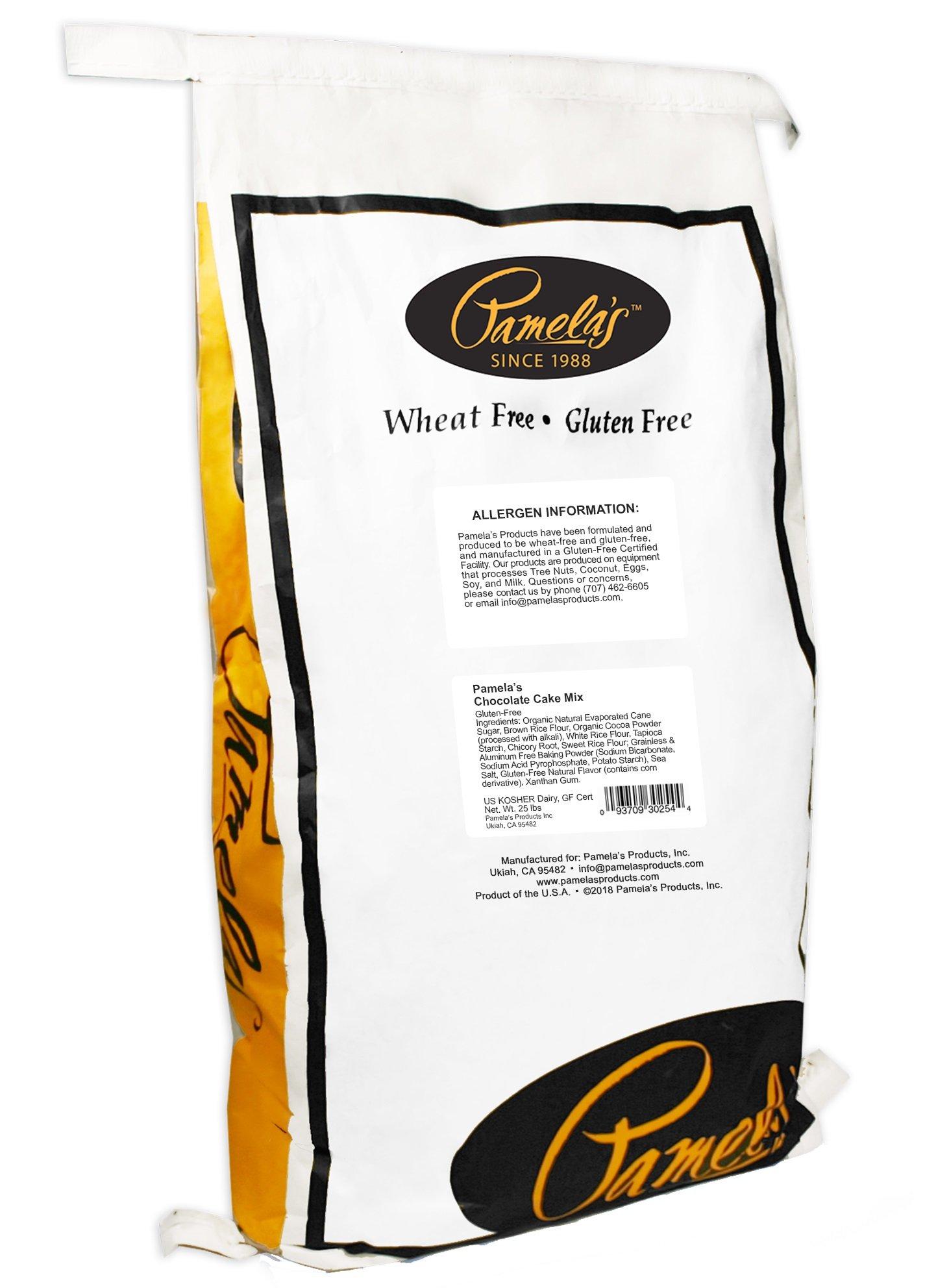 Pamela's Products Gluten Free Cake Mix, Chocolate Cake, 25-Pound Bag by Pamela's Products