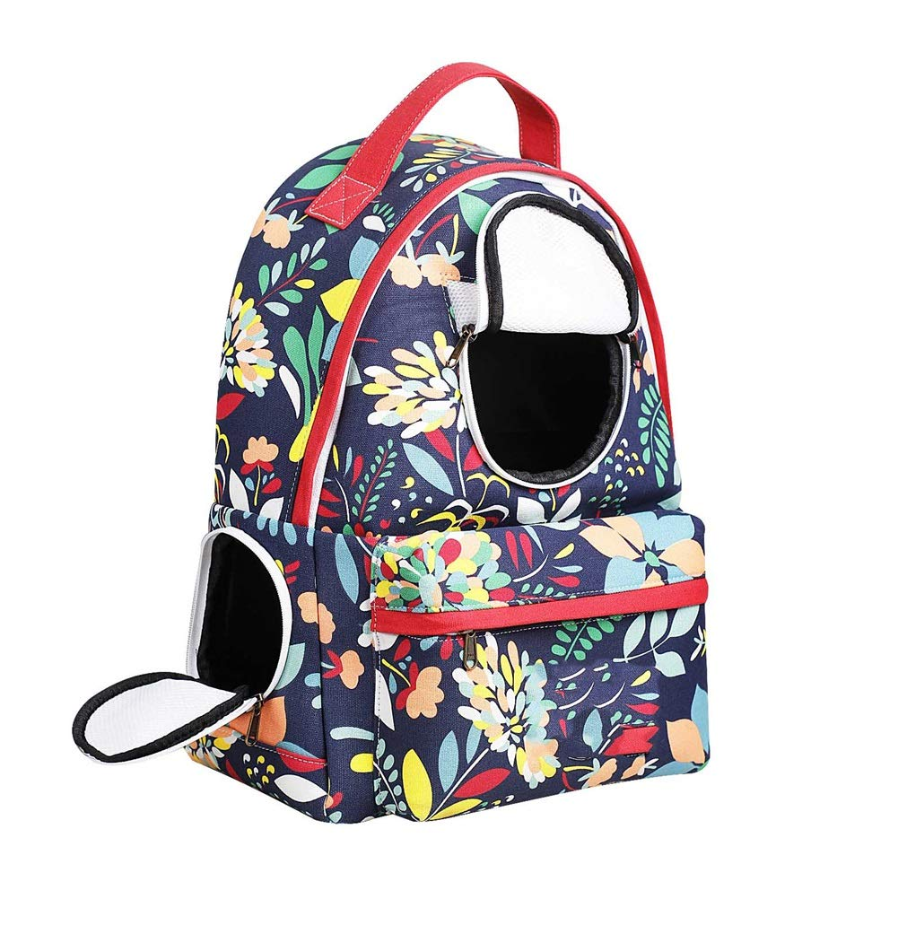 RED Pet Backpack, Dog Cat Backpack Carrier Breathable Small Pet Double Shoulders Fashion Bag For Travel (34cm  17cm  45cm) (color   RED)