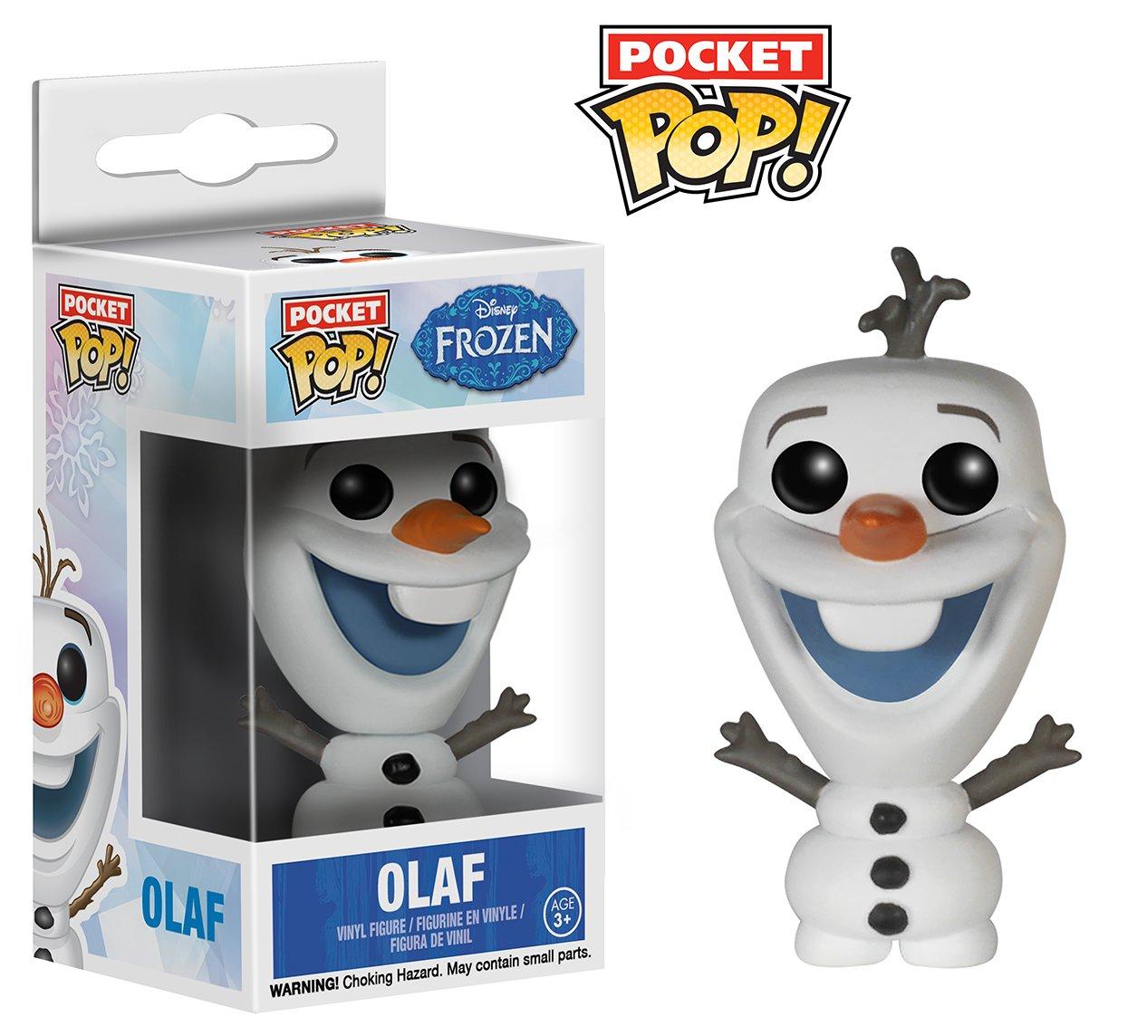 Funko - Estatuilla de Disney - La Reina de Las Nieves (Frozen) - Olaf Bolsillo Pop 4cm - 0849803049997