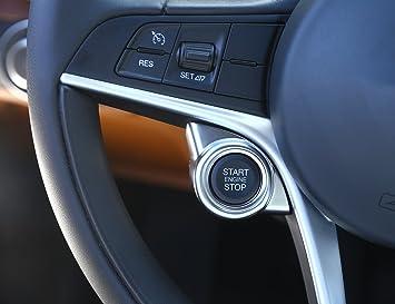 Embellecedor adhesivo decorativo METYOUCAR, ABS cromado mate, para pulsador arranque del motor: Amazon.es: Coche y moto