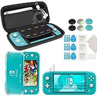 innoAura Accessoireset voor Nintendo Switch Lite, inclusief draagbare draagtas met 8 speelcassettes, transparante TPU…