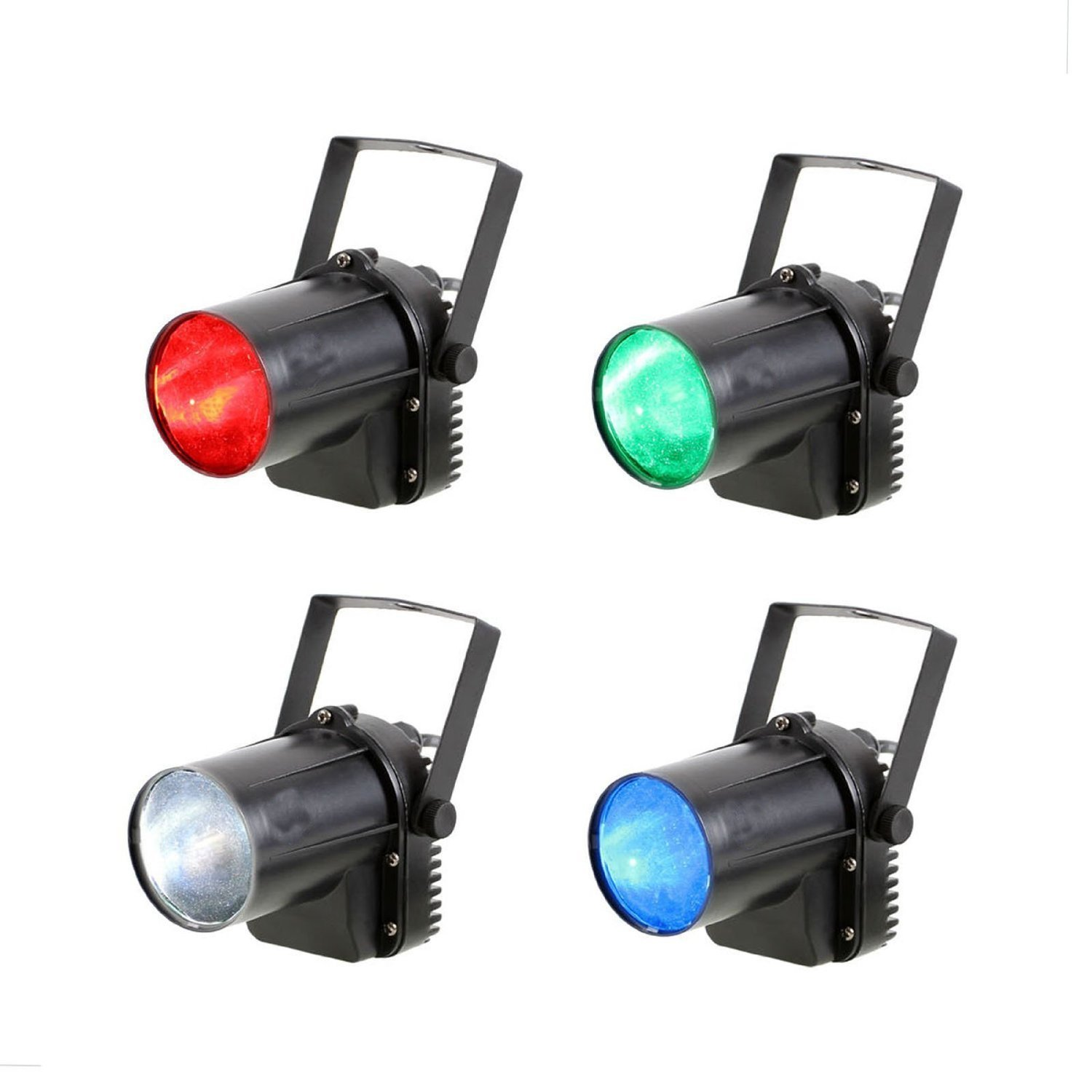 Sumger 3W Single Beam RGBW Spotlight LED Stage Pinspot Light Projection DJ Lighting Effect for Wedding Birthday Party (4 Pack)