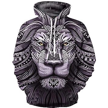 LYJLYJ 3D Animal Print suéter, Unisex, Personalidad de la Moda, el Hoodie, Chaqueta Casual: Amazon.es: Deportes y aire libre