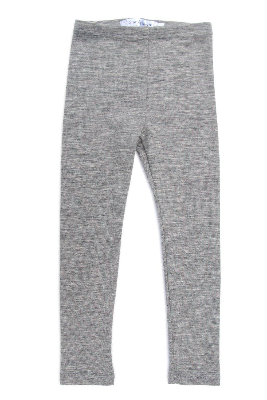 Merino Wool Kids Grey Thermal Bottoms. Underwear Base Layer PJ. Size 11-12