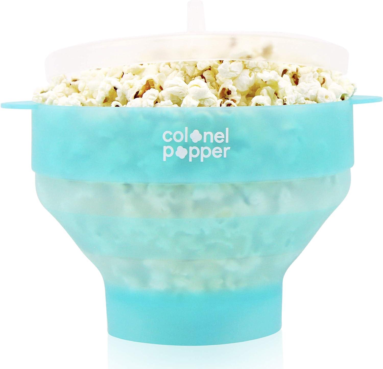 Colonel Popper four micro-ondes pop-corn popper silicone menthe