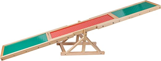 """Namee Pet Agility Seesaw 71"""" Long Dog Teeter Agility for Big and Small Dogs with Non-Slip Surface, Canine Agility Equipment for Dog Agility & Obedience Training, Holds Up to 200lb"""