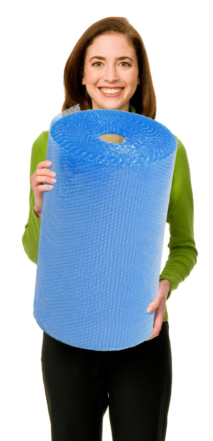 EcoBox Bubble Cushion Wrap 24-Inch Wide x 100-Feet Long, with 3/16-Inch Small Bubbles (V-10017)