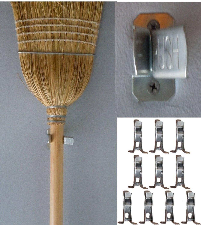 10 Bulldog Metal Spring Grip Clamps, Tool Rack