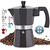 Zulay Classic Stovetop Espresso Maker for Great Flavored Strong Espresso, Classic Italian Style 5.5 Espresso Cup Moka…