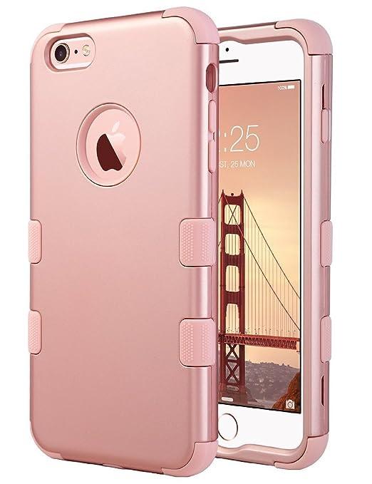 20 opinioni per Cover iPhone 6s, ULAK iPhone 6 Custodia ibrida a 3 strati in silicone a prova di