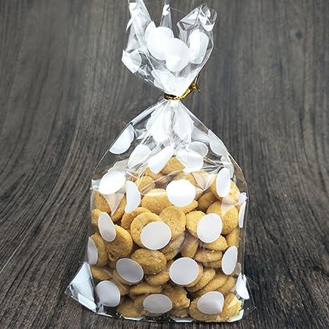 100 bolsas de plástico de celofán para galletas, caramelos ...