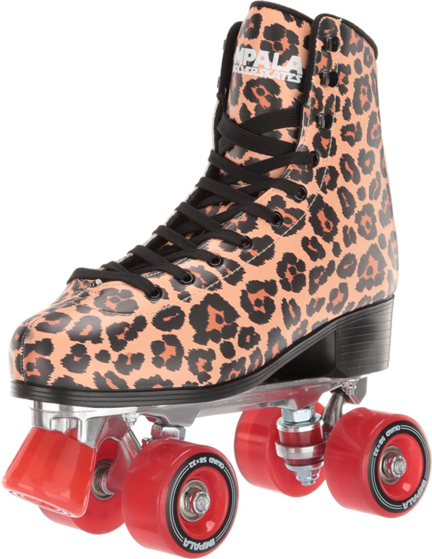 Impala Rollerskates Girl's Impala Quad Skate (Big Kid/Adult) Leopard 11 M by Impala Rollerskates