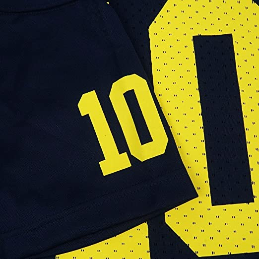 ff412b8f8 Amazon.com   Michigan Wolverines NCAA Adidas Navy Blue Official Home  10  Replica Football Jersey For Youth (XL)   Sports   Outdoors