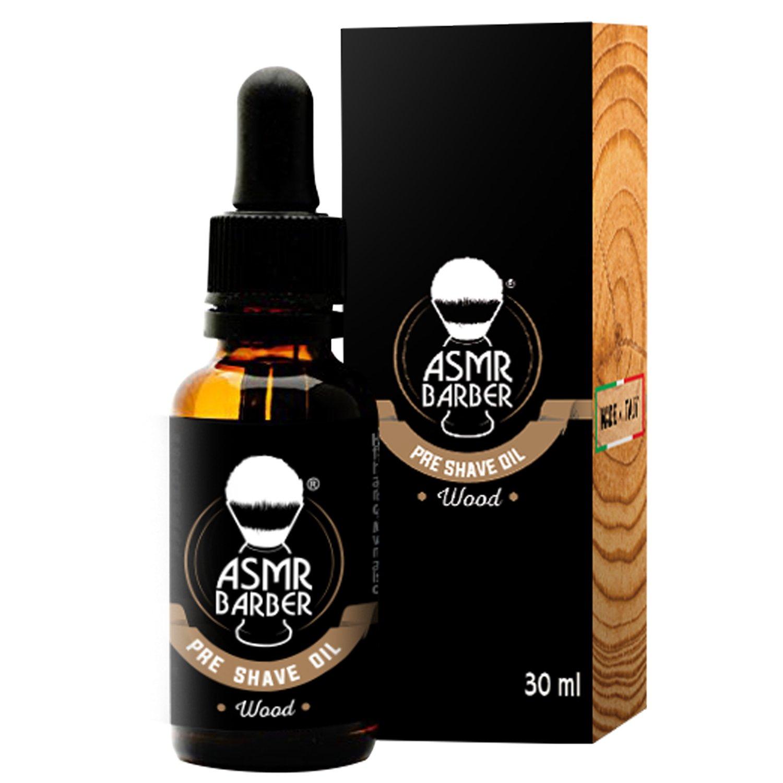 ASMR Barber - Aceite pre Afeitado, Fragancia maderas con Aloe Vera - 30ml