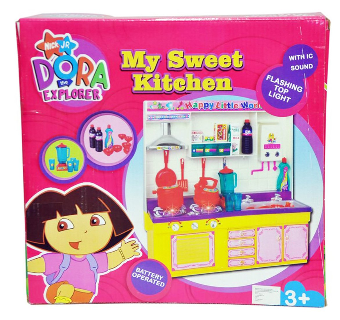 Buy Nyrwana Dora Kitchen Set Pink Online At Low Prices In India Amazon In