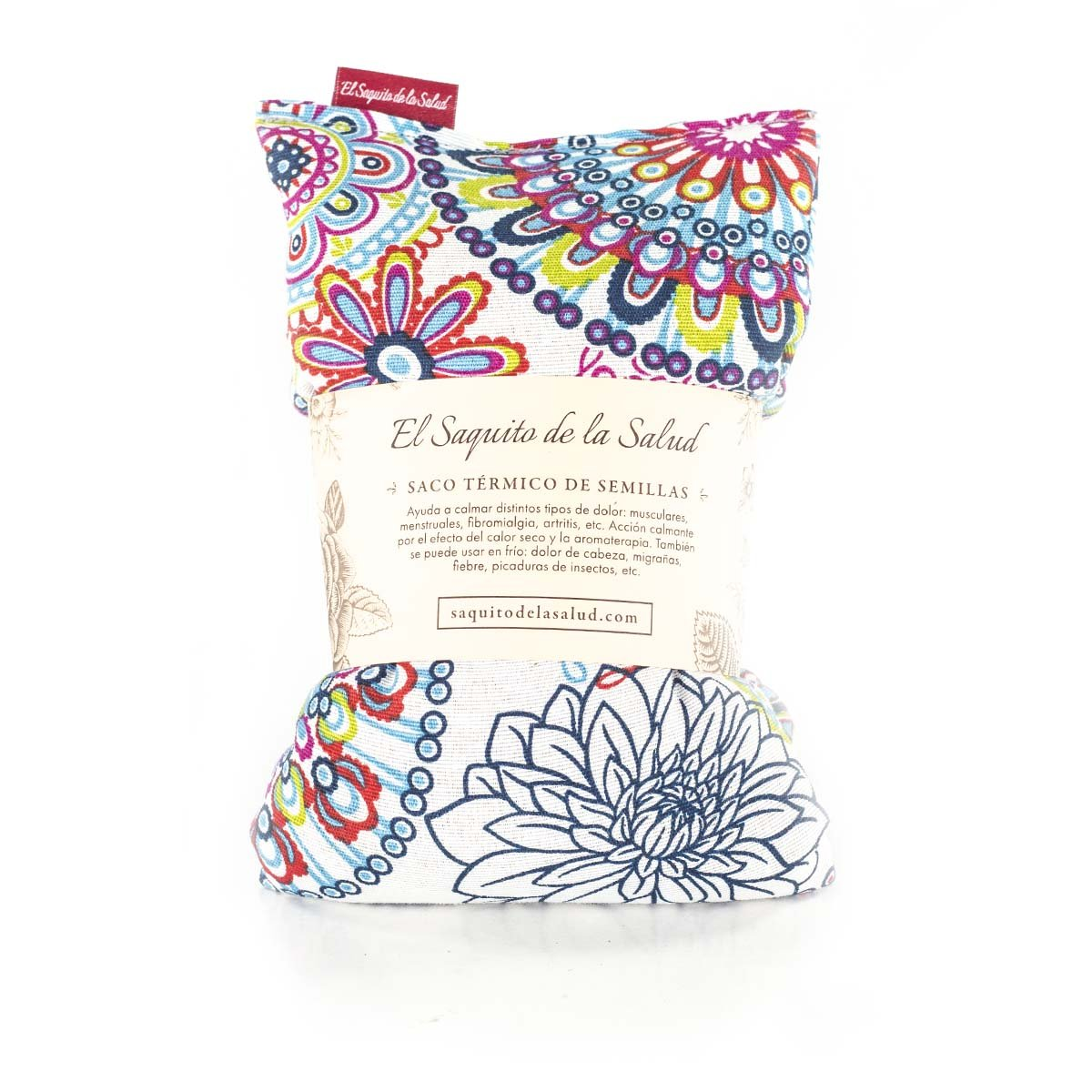 Saco Térmico de Semillas aroma Lavanda, Azahar o Romero tejido Flores Multicolor (Romero, 26x28x2cm): Amazon.es: Hogar