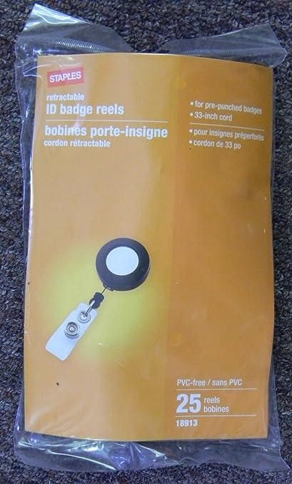 Amazon com : Retractable ID Badge Reels - 33 Inch Cord - 25